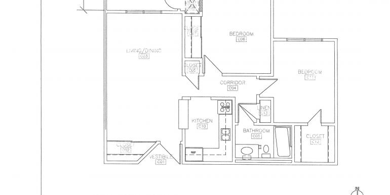 Hillcrest Manor 2 bedroom floor plan